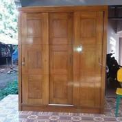 Lemari Pakaian Jati Minimalis 3 Pintu Sleding Code W60 (26451787) di Kota Tangerang