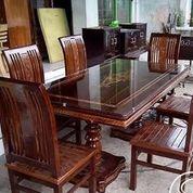 Meja Makan Minimalis Jati 6 Kursi Code Z50 (26466027) di Kota Tangerang