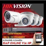 Paket CCTV HIKVISION 4 Channel 4 Camera FHD 1080p 2mp (26477979) di Kota Jakarta Pusat