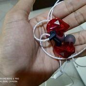 Earphone QKZ - CK5 Quality Knowledge Zenith -(Merah) KONDISI 99% Baru Sekali Pakai Produk Original (26486355) di Kab. Semarang