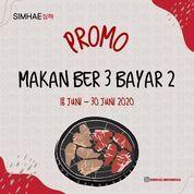 SIMHAE KOREAN GRILL MAKAN BER-3 BAYAR 2 (26489735) di Kota Banjarmasin
