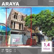 Rumah Baru 3 Lantai Luas 90 Di PBI Araya Kota Malang _ 305.20 (26501443) di Kota Malang