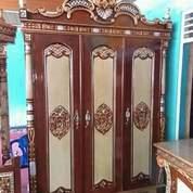 Lemari Pakaian Jati Ukir 3 Pintu Code W78 (26563687) di Kota Depok