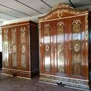 Lemari Pakaian Jati Ukir 3 Pintu Code W22 (26563695) di Kota Depok