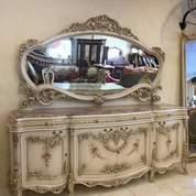 Meja Cermin Ukiran Duco Kayu Jati (26567583) di Kota Jakarta Utara