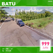 Tanah Kavling Luas 240 Depan DPRD Kota Batu Malang _ 268.20 (26586963) di Kota Malang