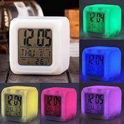 Jam Moody Clock Lampu LED Meja Mini Ubah 7 Warna Warni Glowing With Alarm Serbaguna (26611923) di Kota Surabaya