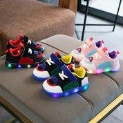 Sepatu Anak Laki-Laki & Perempuan Casual Led 004 Bahan Kanvas - Murah - 24 (26686579) di Kota Jakarta Selatan