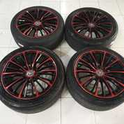 Velg Racing Murah Ring 17 Pcd 8X100-114,3 Cocok Buat Jazz Yaris Avanza Xenia Dll (26707419) di Kota Jakarta Barat