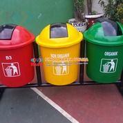 Pusat Tempat Sampah Bulat Gandeng Tiga Warna 001 (26715427) di Kab. Bekasi