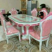 Meja Makan Ganesa Pink 6 Kursi W3 (26718703) di Kota Depok