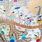 Lukisan Damar POHON EMAS Original Akrilik Di Canvas Dari Bali (26775939) di Kab. Badung