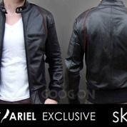 Jaket Kulit Black Ariel (26793655) di Kab. Bantul