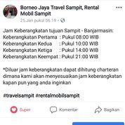 Agen Travel Sampit Ke Banjarmasin Terpercaya (26800031) di Kab. Kotawaringin Timur