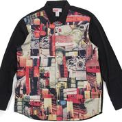 Comme des Garcons Shirt Patchwork Button Up Shirt Multicolor (26918539) di Kota Jakarta Selatan