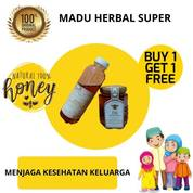 Beli 1 Gratis 1 - Madu Herbal Super Kalimantan Lebah Ternak (Herbal Natural Honey) (26940199) di Kota Makassar