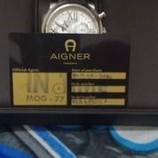 Jam Tangan Original Aigner Bari Chrono Leather Black Seri A 37509. Kondisi Mulus. (26979339) di Kota Makassar