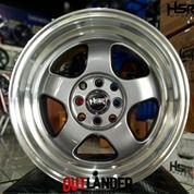 Velg Racing Mobil Tipe Brisket Ring 15 Lebar 7/8 Warna Grey Polish (27014259) di Kota Semarang