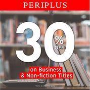 Periplus Get 30% off on Business & Non-fiction Titles (27015587) di Kota Jakarta Selatan