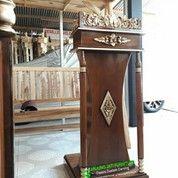 Mimbar Podium Pidato Kayu Jati Berkualitas 82829 (27105455) di Kota Jakarta Barat