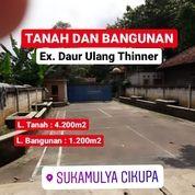 Pabrik Daur Ulang Thinner 4.200m2 Di Tigaraksa Cikupa Kab Tangerang (27145935) di Kab. Tangerang