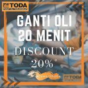 TODA Ganti Oli Discount 20% (27154539) di Kota Jakarta Selatan
