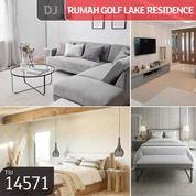 Rumah Golf Lake Residence, Cluster San Lorenzo, Cengkareng, Jakarta Barat, 8x15m, 2 Lt, SHM (27184391) di Kota Jakarta Barat