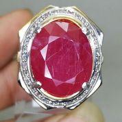 Batu Permata Merah Rubi Cutting Asli Kode 2109a (27220915) di Kota Surakarta