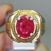 Cincin Batu Natural Rubi Merah Delima Asli Kode 2107a (27221379) di Kota Surakarta