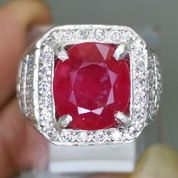 Cincin Batu Rubi Merah Cutting Ring Perak Asli Kode 2104a (27221899) di Kota Surakarta
