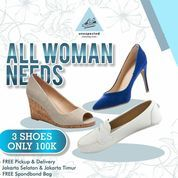 Unexpected Cleaningcrew All Woman Nees 3 Shoes only 100k (27222071) di Kota Jakarta Selatan