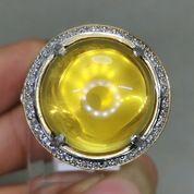 Batu Akik Kecubung Kuning Citrine Bulat Asli Kode 2097a (27223203) di Kota Surakarta