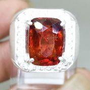Cincin Batu Garnet Ceylon Srilangka Ring Perak Asli (27226611) di Kota Surakarta