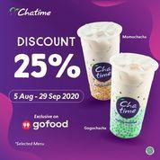 Chatime Discount 25% GoFood (27236035) di Kota Jakarta Selatan