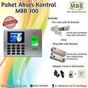 Sale Agustus Paket Mesin Absensi Fingerprint Dan Card Rfid Akses Kontrol Pintu MBB 300 (27248183) di Kota Surabaya
