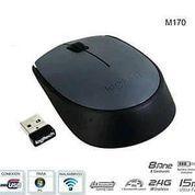 Mouse Wireless Tipe Logitech M170 Praktis Tanpa Kabel PC Koneksi Daya Tahan (27268315) di Kota Surabaya