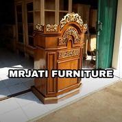 Ready Mimbar Masjid Minimalis >Matrial Kayu Jati Ornamen Arab (27282859) di Kota Bekasi