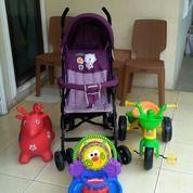 Stroller Kondisi 90% + Bonus 3 Mainan Anak (27286415) di Kota Tangerang Selatan