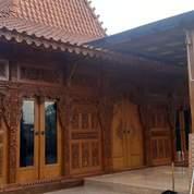 Rumah Joglo Kayu Jati Tumpangsari Ukiran Sokoguru 20cm Gebyok Ukiran (27307675) di Kab. Bantul