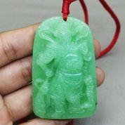 Kalung Batu Giok Hijau Ukir Dewa Kwan Kong Guan Yu Asli (27316983) di Kota Surakarta