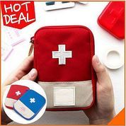 Tas Travel P3K Medicine Pouch Bag Obat Praktis Mudah Aman Tempat Penyimpanan (27321979) di Kota Surabaya