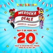 Kidz Station Merdeka Deals Buy 2 Or More Get +20% (27355099) di Kota Jakarta Selatan