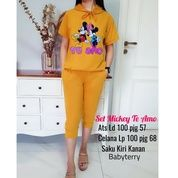 BT82538 Mustard Stelan Hoodie Mickey To Emo (27396519) di Kota Jakarta Timur