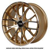 Velg NAPLES H552 HSR R15X65 H4x100 ET38 GOLD/MF (27408367) di Kab. Sleman