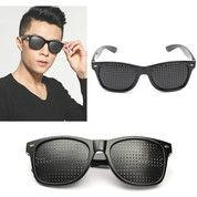 Kacamata Terapi Anti Myopia Pinhole Glasses Warna Hitam (27412087) di Kota Surakarta