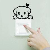 Sticker Stiker Saklar Lampu Wallpaper Dinding Love Dog (27418863) di Kota Surakarta