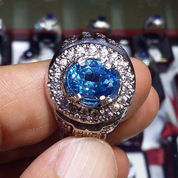 CINCIN BATU PERMATA NATURAL BLUE TOPAZ 3358 (2743177) di Kota Jakarta Utara
