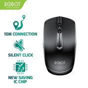 Mouse Wireless ROBOT M200 2.4GHz Silent Optical 1600DPI Receiver (27494955) di Kota Surakarta