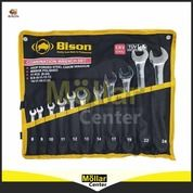KUNCI RING PAS SET 11 PCS 8 - 24 MM BISON (27570387) di Kota Magelang