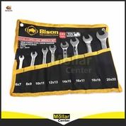 Kunci Pas Set - Double Open-End Wrench Set 8 Pcs BISON (27570539) di Kota Magelang